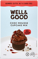 Choc Mousse Cup Cake Mix with Mousse Topping