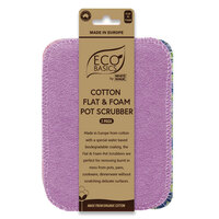Cotton Flat + Foam Pot Scrubber (2pk)
